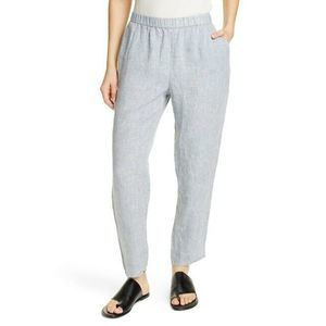 New Eileen Fisher Organic Linen Ankle Pants PL